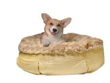 New 2020 Ortho Round Water Resistance Washable Pet Bed Bulldog, Poodle Large