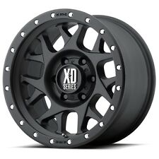 17 Inch Wheels Rims Black Jeep Wrangler JK XD Series XD127 Bully 5x5 SET OF 4