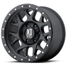17 Inch Wheels Rims Black Jeep Wrangler JK XD Series XD127 Bully 5x5 SET OF 4