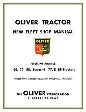 Oliver 66 77 88 Super 66 77 88  Factory Shop Service Manual Reproduction