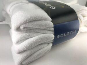 Goldtoe socks - Men's GoldToe White 79% COTTON Crew Socks 6 Pack $39 MSRP 🎾⛳️🎒