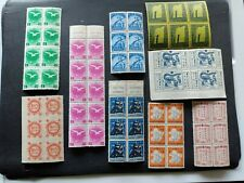 China - Manchuria -19 unused blocks of stamps Dragon Dance&other issues(1940's)