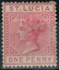 Mint Hinged St Lucia Stamps Singles