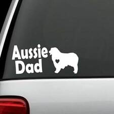 C1150 Australian Shepherd Aussie Dad Dog Decal Sticker Pet Gift Accessory