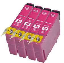 4 Compatible E1283 Magenta Ink jet Printer Cartridges For T1283 C13T12834010 New