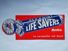 Vecchio SEGNALIBRO CINZANO MOTTA Life savers caramella bookmark