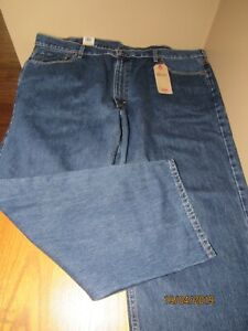 NEW BIG MEN'S 50x30 LEVIS 550 RELAXED FIT TAPERED LEG BLUE JEANS