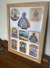 Adnams Brewery framed vintage Broadside beer mats