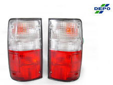 USA 89-95 Toyota Pickup Truck 2WD 4WD Red / Clear Tail Lights Lamps SR5 Dlx