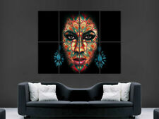 WOMEN TRIPPY ART POSTER SHAPES ABSTRACT WALL ART  PICTURE PRINT LARGE HUGE