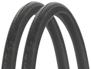 Pair Michelin World Tour Bike Tyre Black 700 x 35c Wire Bead 700c