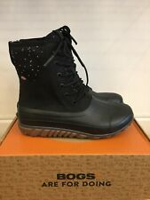 NEW BOGS CLASSIC CASUAL TALL BLACK LEATHER BOOTS FOR WOMEN