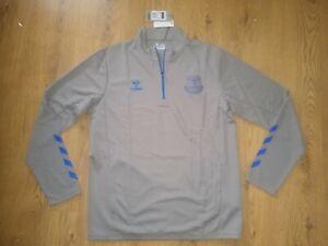 New Everton FC 20/21 Training Half Zip Top Adult Grey XLarge XL Hummel