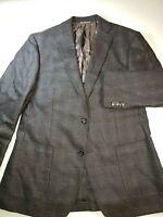 Men's Elie Tahari Suit Coat Jacket Blazer Size 40R Wool 2 Button Dark Brown (A6)