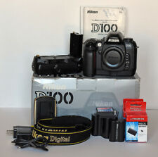 Nikon D100 6.1 MP Digital SLR Camera & MB-D100 Battery Grip Batteries*FREE SHIP*
