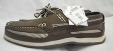 Boat Shoe Island Surf Size 10M NWT Synthetic Water Resistant Brown W White $60