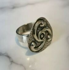 Vintage Irish Silver Celtic Ring Hallmarked Dublin 1971