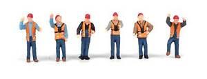 Walthers SceneMaster HO Scale Figures/People Railroad Yard Crew (6-Pack)