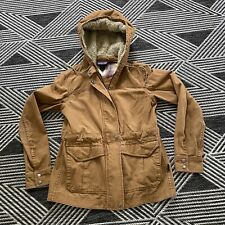 Patagonia Prairie Dawn Canvas Jacket Cinch Waist Hooded Women's Medium