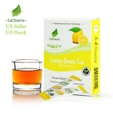 Premium 100% Natural Lemon Organic Green Tea Sugar Free (10 Sachests)