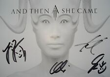█▬█ Ⓞ ▀█▀  AND THEN SHE CAME  Ⓗⓞⓣ Autogramm 10 cm x 15 cm Ⓗⓞⓣ original signiert