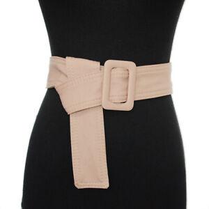 Women Belt Waistband Wide Elegant Buckle Cummerbunds For Women Dress Coat Lady