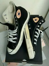 VINTAGE CONVERSE CHUCK TAYLOR ALL STAR BLACK SUEDE MADE IN USA UK 7