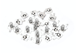 10 Pairs Metal AAA Batteries Spring Contact Plate Terminal Silver Battery