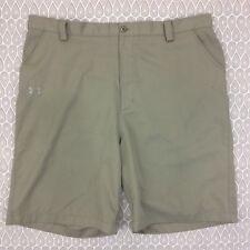 Under Armour Men's Khaki Golf Shorts Size 40 R D29
