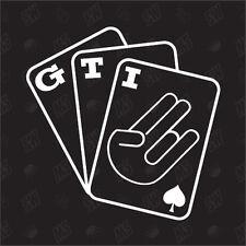 Jeu de cartes GTI Tuning Sticker,Choquant Fun Autocollants Pour Voiture,