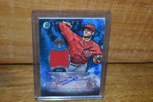 2016 Bowman Inception Lucas Giolito Autographed Signed Auto Jersey Relic #49/99