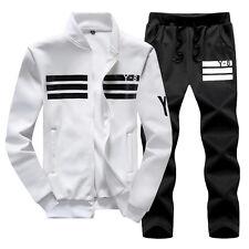 Warm Mens Sports Suit Athletic Set Jacket Sweatshirt Sweatpant Jogging Tracksuit