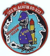 USS Blackfin SS 322 Aquamarine Ocean BC Patch Cat No C6852