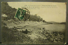 cpa 83 environs de toulon plage de pin de galle station pont de la clue