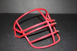 1993 VTG Schutt Football Helmet Facemask New Patriots Badgers Scarlett red