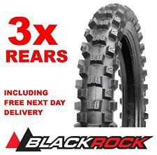 BLACKROCK Rear Motocross Tyre DEAL 110/90/19 - 3 x REAR Tyres 250 2ST / 450 4ST
