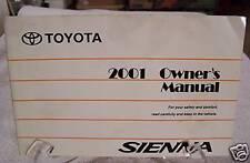 **LOOK** 2001 Toyota Sienna Owners Manual 01