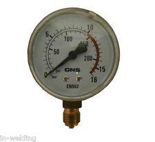 Manometer Argon/CO2 Sauerstoff 0-16 bar