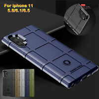 For Samsung Galaxy S10 S9 Note10+ Armor Rugged Rubber Hard Case Shockproof Cover