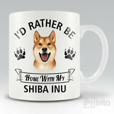 I'D RATHER BE HOME WITH MY SHIBA INU Funny mug, novelty cup dog lover gift