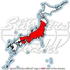 JAPAN LandKarte-Flagge, Japanische Karte-Fahne Auto Aufkleber Vinyl Sticker