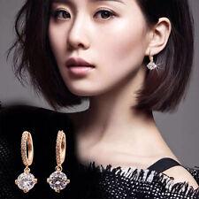 Paire Femme Boucle Oreille Crochet Clou Cristal Strass Diamant Stud Clip Bijoux