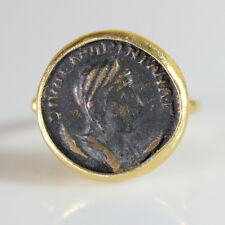 Handmade Turkish Designer Replica Coin Ring Gold over 925K Sterling Silver