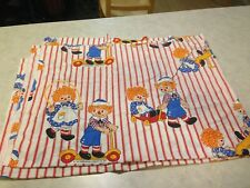 """Ragedy Ann & Andy 1977 Twin Size Vintage Bed Sheet 74"""" x 92""""! FREE USA SHIPPING!"""