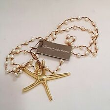 Tommy Bahama FRESH WATER PEARL GOLD PLATED STARFISH PENDANT NECKLACE
