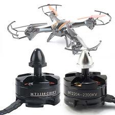 Black Emax MT2204 2300KV CW Brushless Motor for Mini Quadcopter CCW Thread PRO