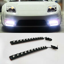 2x 12W LED SMD Waterproof Strip DRL Daytime Running Driving Light White flexible