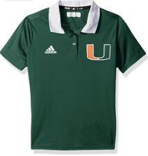 Adidas Women's Miami Hurricanes Football Sideline Polo Jersey Shirt Small S
