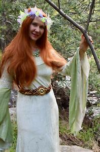 Arwen Costume Medieval Renaissance Green Dress Sz Standard M LOTR Fairy Hallowee