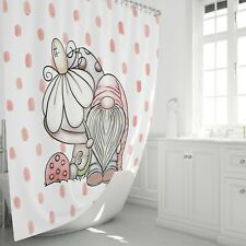 Adorable Gnome Shower Curtain by FolkNFunky